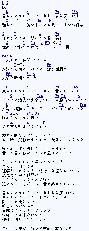 息もできない ZARD 坂井泉水 吉他谱